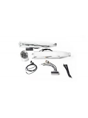 2 x CUSTOM Slip-On exhaust Ø 90 mm incl. cat., ASC – (CAN-BUS actuated sound system), stainless steel chrome, (EC-) approval