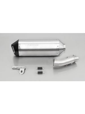 OKAMI, slip on (muffler with connecting tube) for HONDA NC 750 X/S, stainless steel matt, 54 mm, incl. EC homologation
