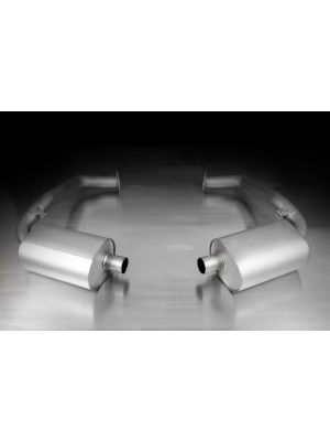 Racing sportexhaust system left/right, Cat-back from front catalytic convertors, no secondary catalytic convertors, without homologation