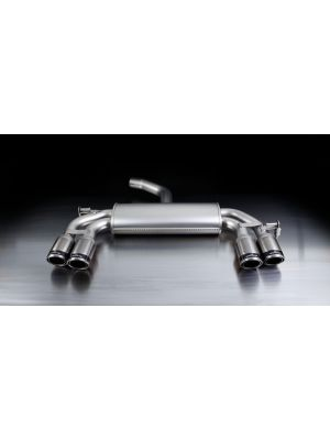 sport exhaust with left/right each 2 tail pipes Ø 84 mm Carbon Race