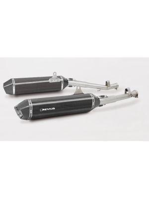 HEXACONE, slip on (muffler) incl. cat. for BMW K 1600 GT and K 1600 GTL, carbon, incl. EC homologation