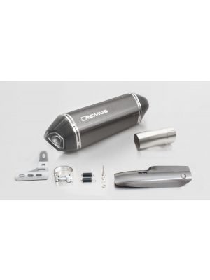 HEXACONE, slip on (muffler and connecting tube) incl. CARBON heat protecting shield, carbon, EEC, 66 mm