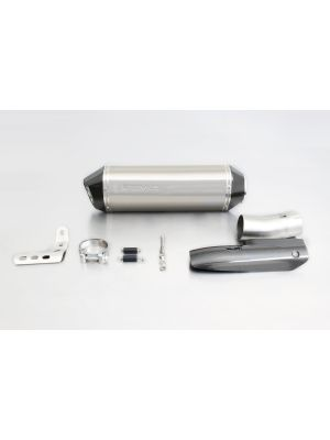 HEXACONE, slip on (muffler) incl. CARBON heat protecting shield, titanium, EEC, 65 mm