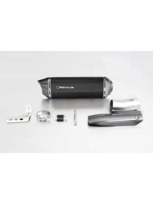 BLACK HAWK, slip on (muffler) incl. CARBON heat protecting shield, stainless steel black, EEC, 66 mm