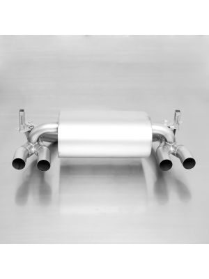 L/R sport exhaust system with 2 integrated valves and selectable tail pipe options