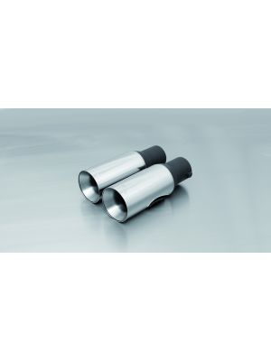 2 Diesel-tail pipes Ø 90 mm straight with emission exit downwards