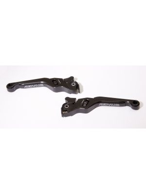 Vespa brake levers, left and right, black anodized