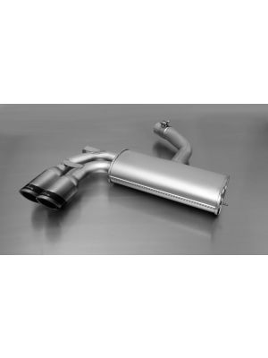 sport exhaust with 2 tail pipes Ø 84 mm Carbon Race