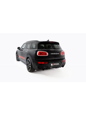 Cat-back-system, centered left/right system with integrated valve for MINI JCW Clubman/Countryman ALL4 (selectable tail pipes), incl. EC homologation