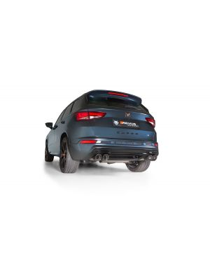 GPF-back-system L/R: 2 connection tubes and sport exhaust centered L/R with 2 integrated valves, (EC-) approval