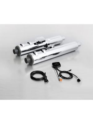 CUSTOM exhaust, without cat., without endcaps, stainless steel, with SC15-system