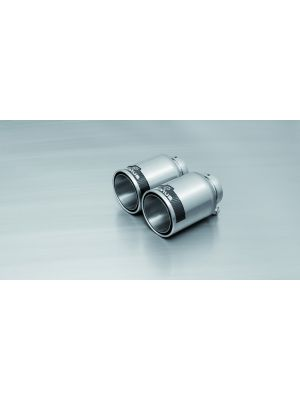 tail pipe set L/R each 1 tail pipe Ø 98 mm Street Race, short, polished, with adjustable spherical clamp connection