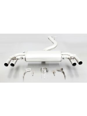 Axle-back-system with 2 integrated valves (selectable tail pipes), incl. EC homologation