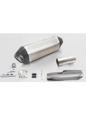 HEXACONE, slip on (muffler with connecting tube) incl. CARBON heat protecting shield for BMW R 1200 R/RS, titanium, 66mm, incl. EC homologation