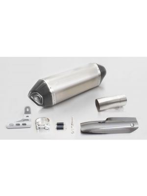 HEXACONE, slip on (muffler and connecting tube) incl. CARBON heat protecting shield, titanium, EEC, 66 mm