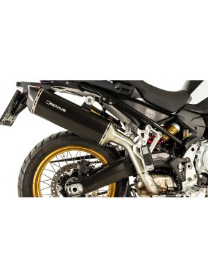 BLACK HAWK Slip on (sport exhaust with connecting tube) with removable sound insert, Stainless steel black, NO (EC-) APPROVAL