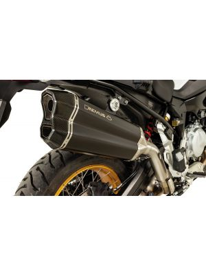 REMUS 8 Slip on (sport exhaust with connecting tube) with removable sound insert, Stainless steel black, NO (EC-) APPROVAL