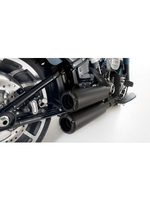 Complete system (2-2) with 2 x CUSTOM exhaust Ø 102 mm incl. cat. (selectable tail pipes), ASC, Stainless steel black, (EC-) approval