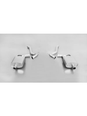 Sport exhaust left and stainless steel sport exhaust right (without tail pipes), with integrated valves, incl. 2 connection tubes, incl. EEC homologation
