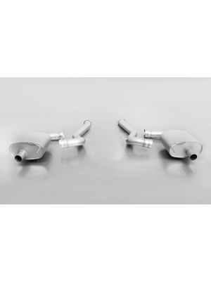 RACING Sport exhaust left and stainless steel sport exhaust right (without tail pipes), incl. 2 connection tubes, without homologation
