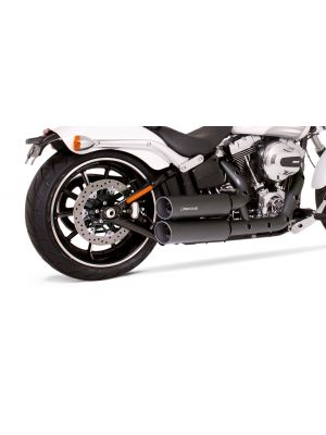 CUSTOM, complete system (2-2) consisting of front and rear header incl. heat protecting shields, Euro 4 cats., 2 CUSTOM silencers and adapter for rear footpegs, incl. EC homologation