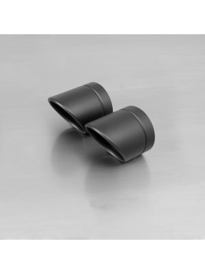 "endcap ""Rolled Up"" (2 Stk.) stainless steel, black"
