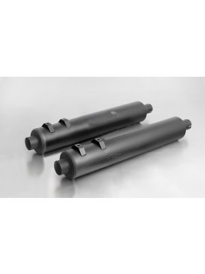 CUSTOM exhaust, without cat., without endcaps, stainless steel black, EG/ABE/EEC