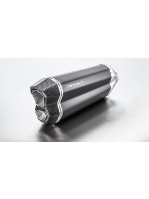 REMUS 8, slip on (muffler with connecting tube) incl. CARBON heat protecting shield for BMW R 1200 R/RS, stainless steel black, 65mm, incl. EC homologation