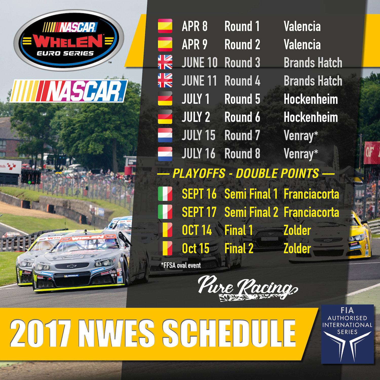 Nascar Unveils 2017 Whelen Euro Series Calendar